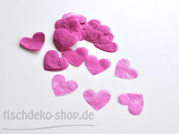 Herzen Pink Ø 4cm 100 Stück Papier/Vlies