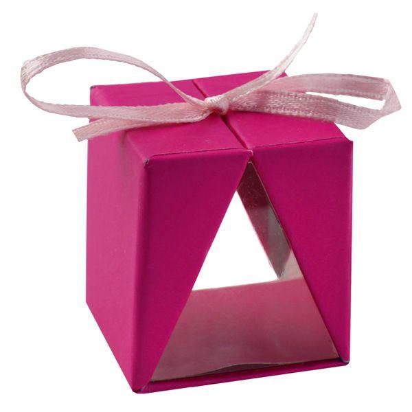 Gastgeschenke Päckchen Pink/Fuchsia 4er Set