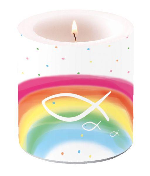 Kerze Rainbow H8cm D 7,5cm bei Tischdeko-Shop.de