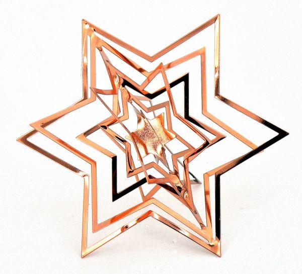 Stern 3D Kupfer Metall bei Tischdeko-Shop.de