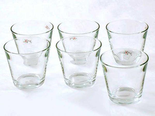 Teelichthalter Glas rund konisch 12cm 6er Vorteils-Set
