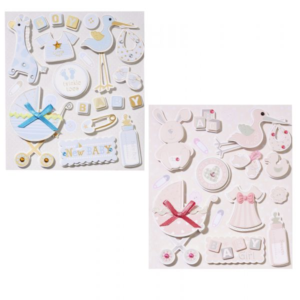 Sticker Taufe 3D 15-teilig