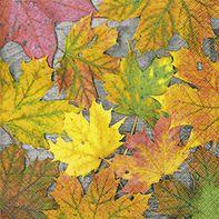 Serviette Maple leafs 33x33cm 20er Pack bei Tischdeko-Shop.de