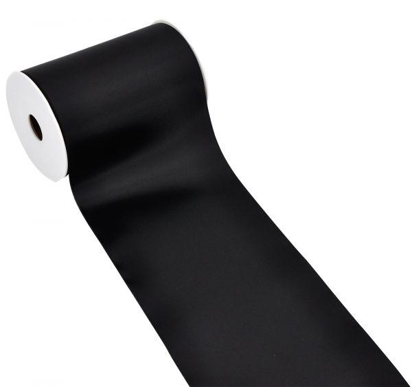 Satinband Tischband Schwarz 15cm breit bei Tischdeko-Shop.de