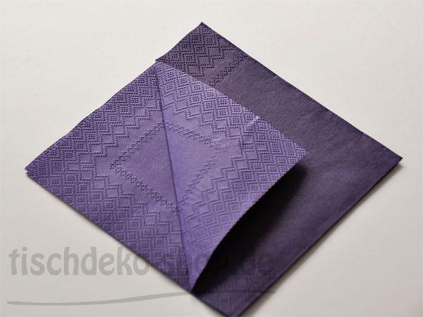 Serviette DOUBLO violet 33x33cm 20er Pack