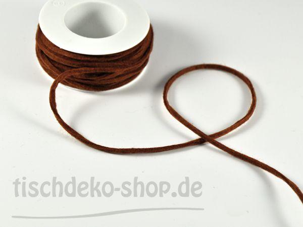 Filzband Braun Breite 4mm 15m Vorteilsrolle bei Tischdeko-Shop.de