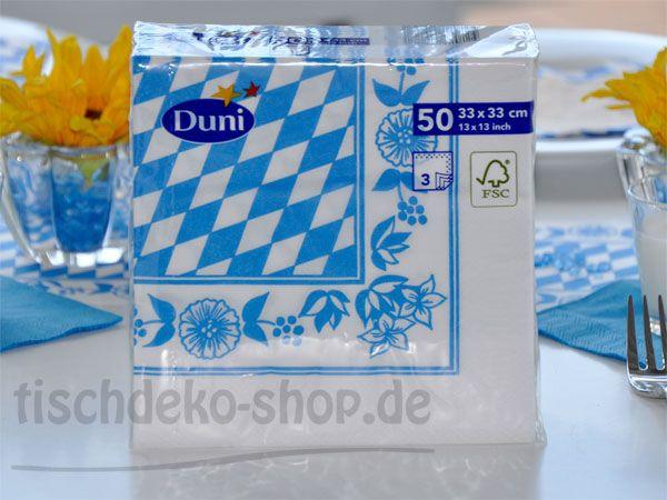 Duni Serviette Bayrische Raute 3-lagig 33 x 33 cm 50er Pack
