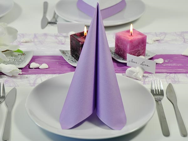 serviette uni lilac 40x40cm 12 st ck moosgr n flieder gr n nach farben tischdeko. Black Bedroom Furniture Sets. Home Design Ideas