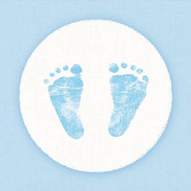 Serviette Baby Step Blau 33x33cm 20er Pack
