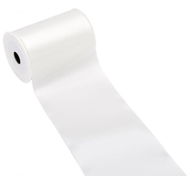 Satinband Tischband Weiß 15cm breit bei Tischdeko-Shop.de