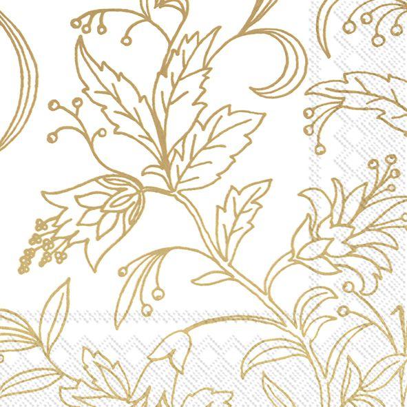 Servietten Golden Flower 33x33cm 20er Pack