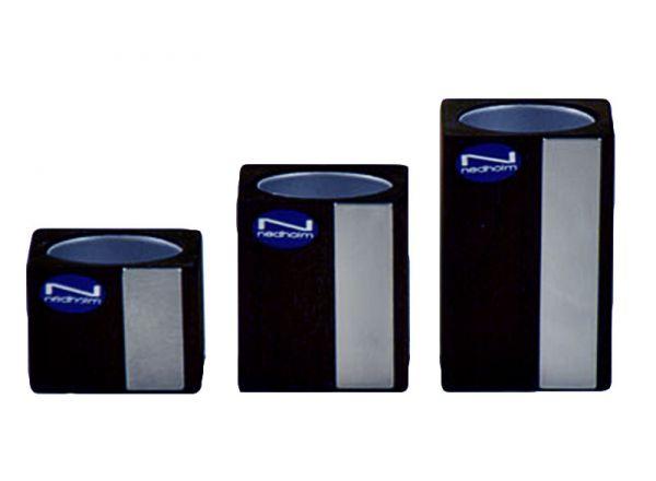 Exklusiver Teelichthalter 3er Set Holz/Metall