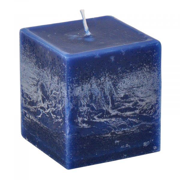 Block-Kerze Würfelkerze Nachtblau 56mm 15h 4er Vorteilspack bei Tischdeko-Shop.de