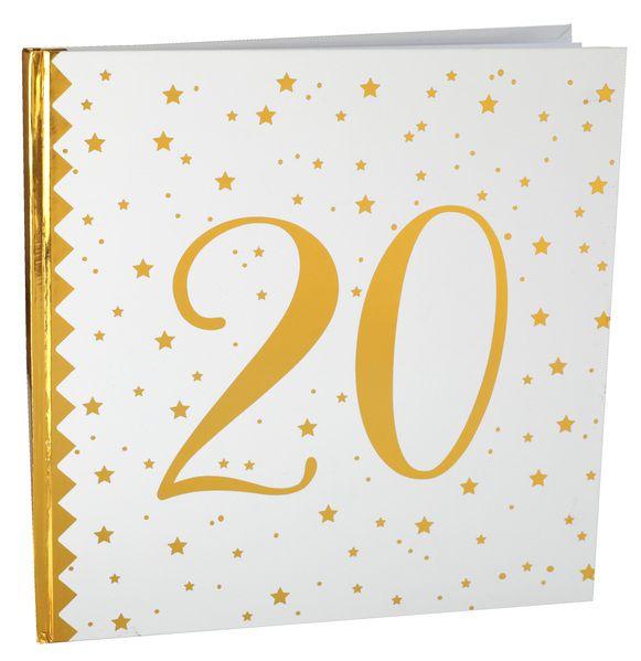 Gästebuch Gold 20 bei Tischdeko-Shop.de