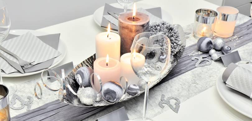 Tischdekoration In Turkis Silber Kaufen Tischdeko Shop