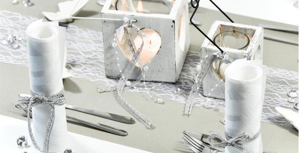 Hochzeitsdeko creme silber die besten momente der for Tischdeko silber