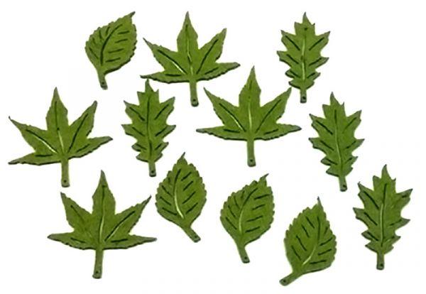 Streudeko Filz Blätter Grün bei Tischdeko-Shop.de