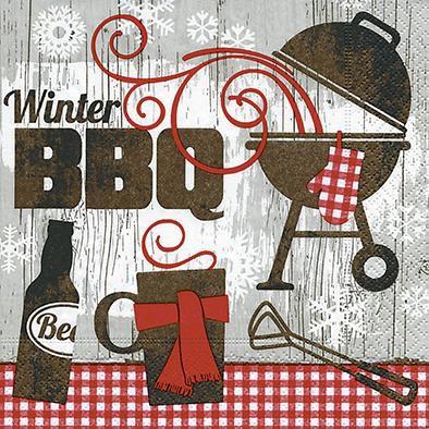 Serviette Winter BBQ 33x33cm 20er Pack
