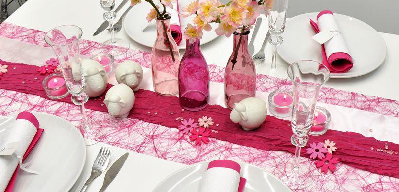 Tischdekoration In Pink Mit Schafen Kaufen Tischdeko Shop