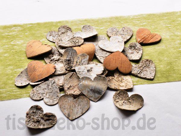 Herzen Birke Ø 4,5 cm ca. 60 Stück