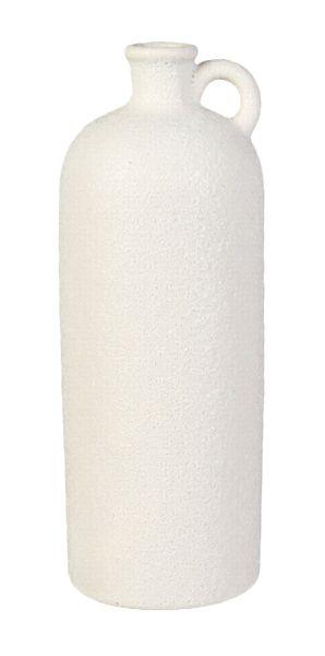 Keramik Flaschenvase mit Henkel Caramel 10x26,5cm bei Tischdeko-Shop.de