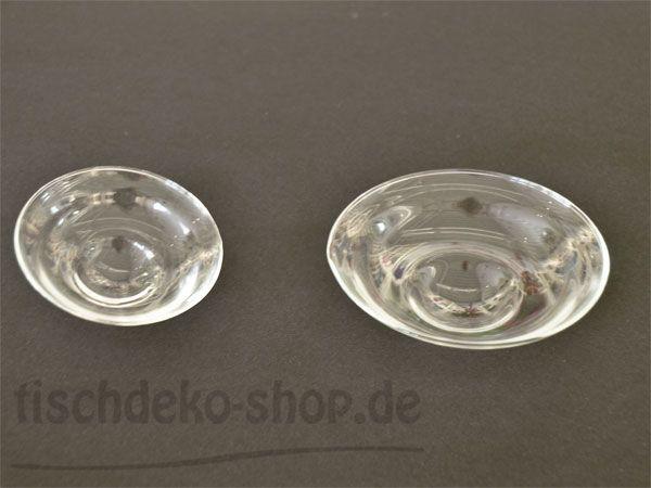 Schwimmende Glas-Teller