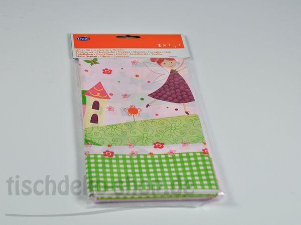 DUNI Tischdecke Pink Fairy 118x180cm abwaschbar
