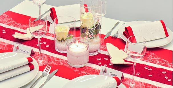 Tischdekoration In Rot Weiss Kaufen Tischdeko Shop