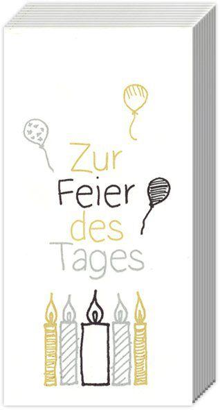 Taschentücher Zur Feier des Tages Gold 10 Stück bei Tischdeko-Shop.de