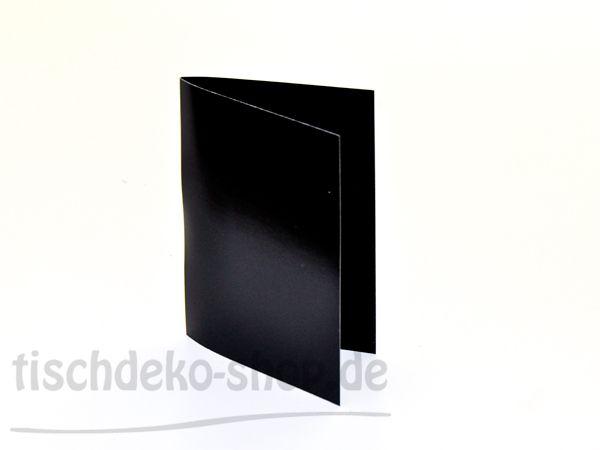Einladungskarten / Menükarten Schwarz 11x17cm 10 Stück