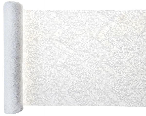 Tischband Boho Spitze Weiß 30cm 3 Meter Rolle bei Tischdeko-Shop.de