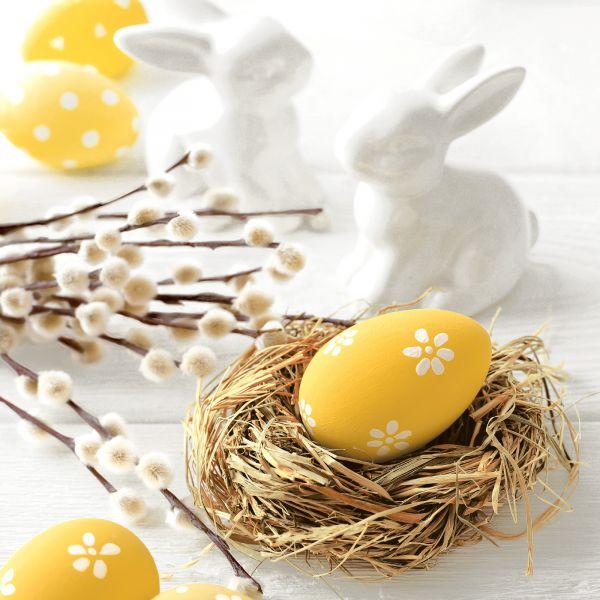 Serviette Easter Morning 33x33cm 20er Pack bei Tischdeko-Shop.de
