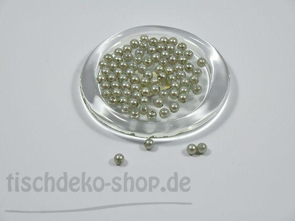 Deko-Perlen Ø 8mm Silber/Grau 250 Stück