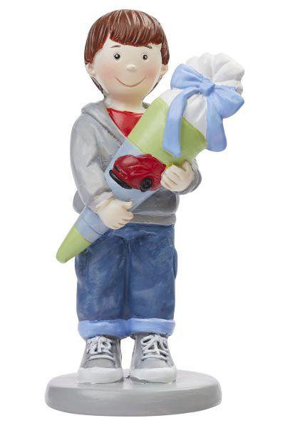 Figur Schuljunge mit Schultüte 8.5 cm bei Tischdeko-Shop.de