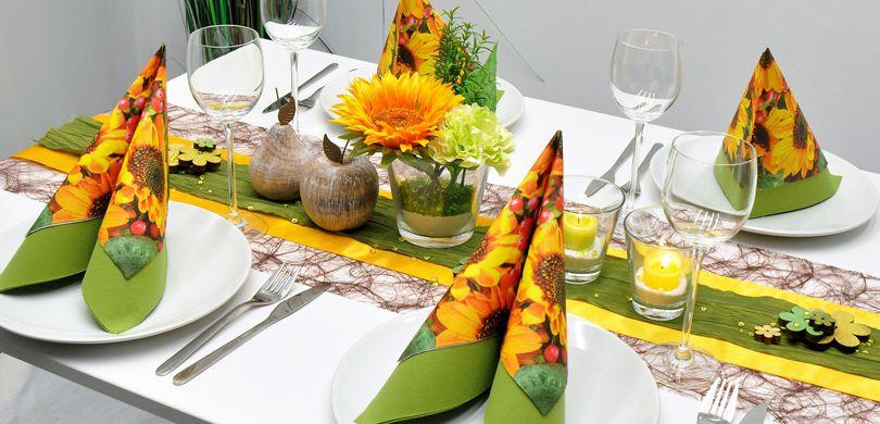 Tischdekoration In Grun Gelb Kaufen Tischdeko Shop
