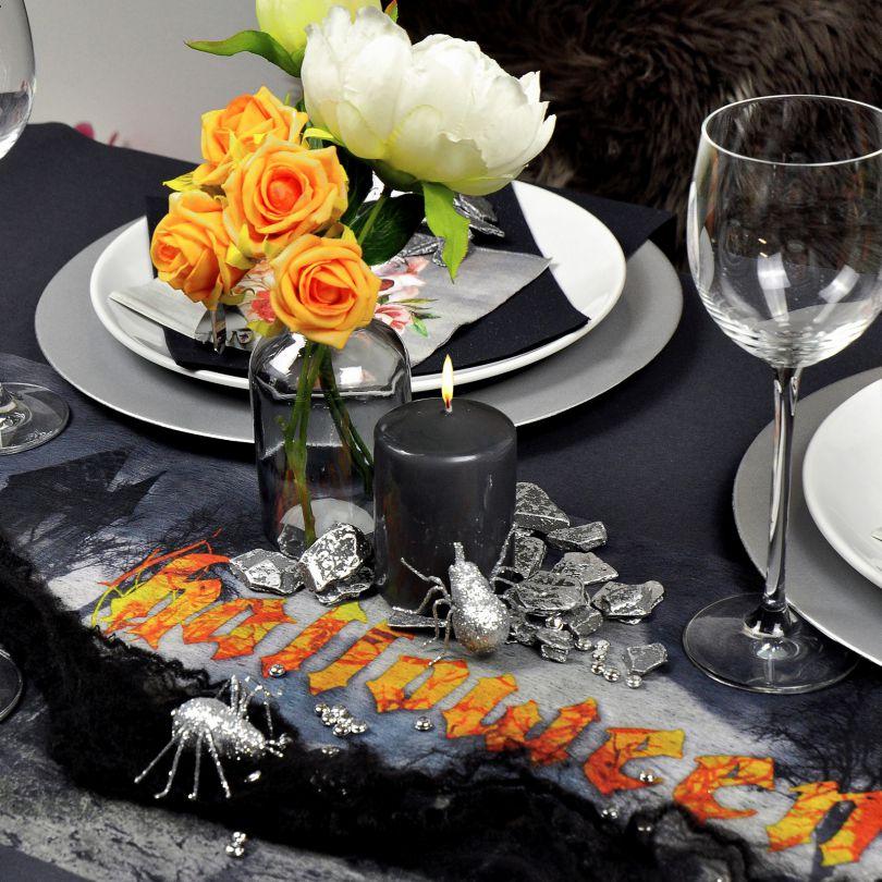 Feste Besondere Anlasse Halloween Tischband Tischlaufer Schwarz Tischdeko Dekoration Onebitjr Com Br