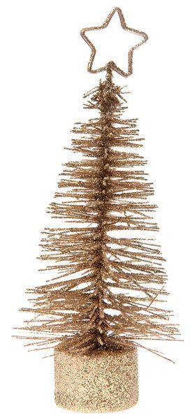 Weihnachtsbäumchen Gold 16x6cm 2er Set