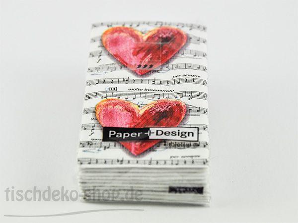 Taschentücher Lovesong 10er Set