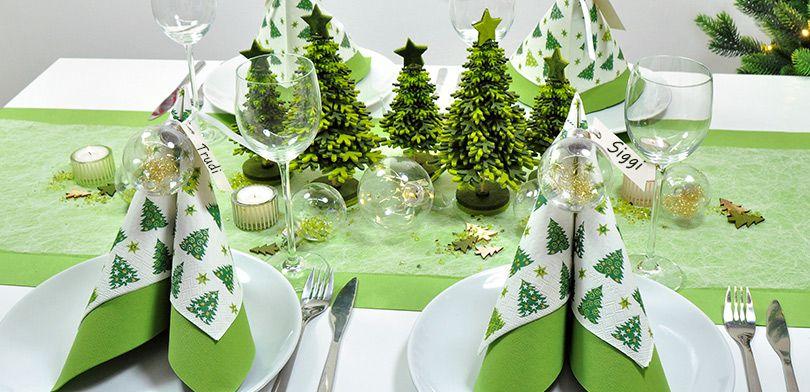 Oh Tannenbaum Auf Englisch.Weihnachtliche Tischdekoration Oh Tannenbaum