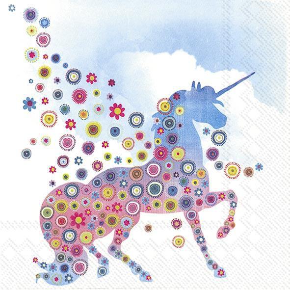 Serviette Magic Unicorn Einhorn 33x33cm 20er Pack
