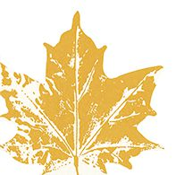 Serviette Maple leaf yellow ca. 33x33cm bei Tischdeko-Shop.de