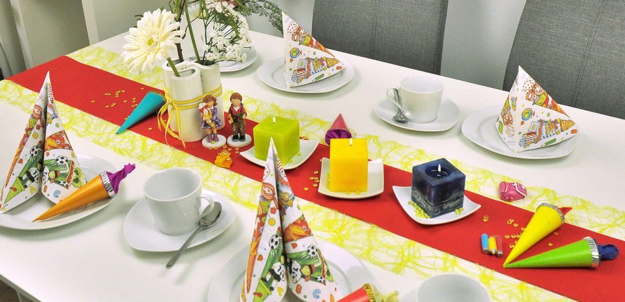 Tischdekorationen Zum Schulstart Bei Tischdeko Shop De