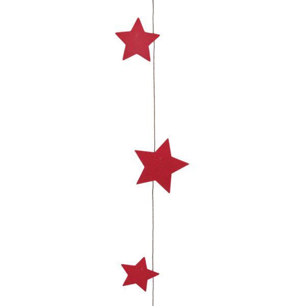Sternen-Girlande Rot Papier 120 cm bei Tischdeko-Shop.de