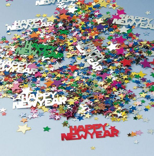 Konfetti Happy New Year bunt