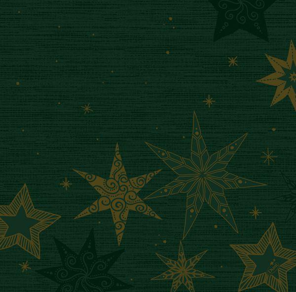 Dunisoft-Serviette Star Stories Green 40x40cm 60er Pack bei Tischdeko-Shop.de