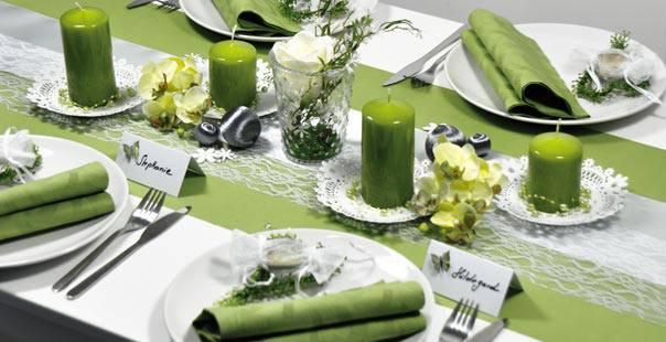 tischdeko grun gelb