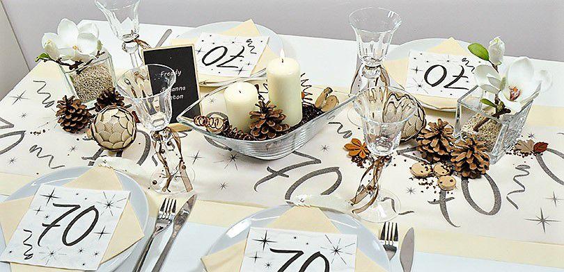 Tischdekoration Zum 70 Geburtstag