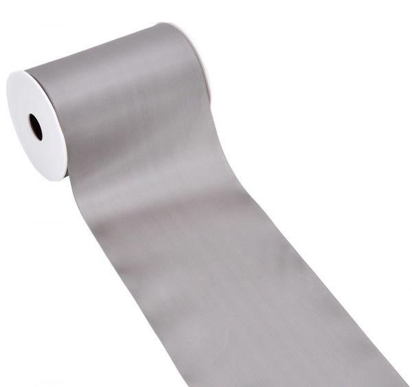 Satinband Tischband Silbergrau 15cm breit bei Tischdeko-Shop.de