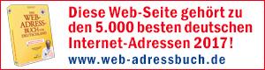 Tischdeko-Shop.de gehört zu den 5.000 besten Internetadressen 2017