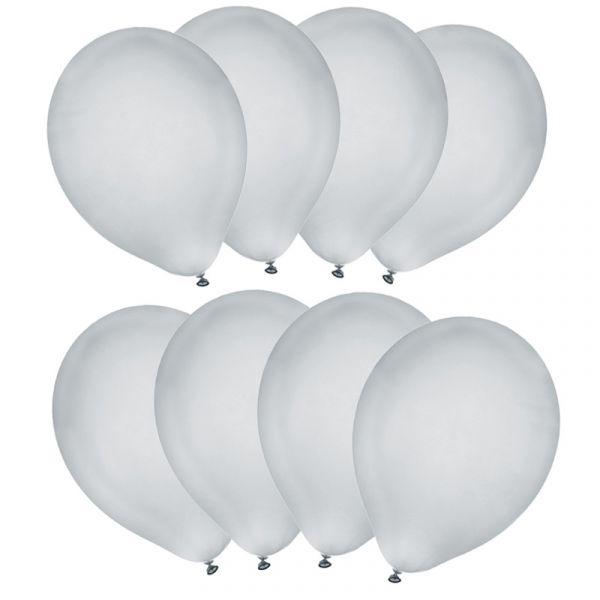 Luftballons Silber D 23cm 8 Stück bei Tischdeko-Shop.de
